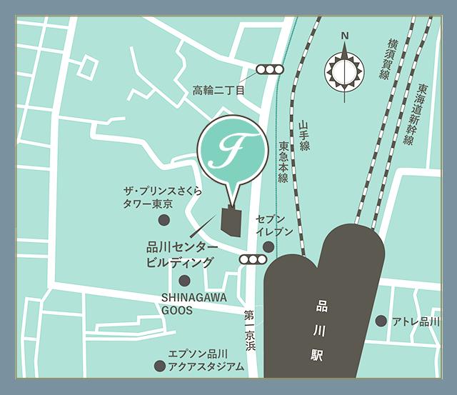 女性MRコンサルのフラームジャパンの会社案内地図
