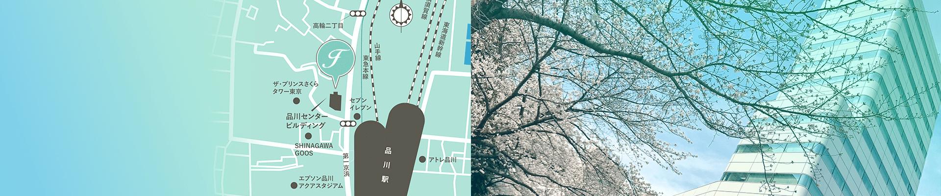 東京にある女性活躍を推進しているコンサルティング会社フラームジャパンの周辺地図情報